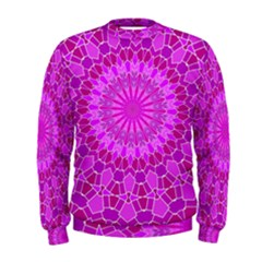 Purple and Pink Mandala Men s Sweatshirts