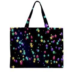 Pretty Stars Pattern Zipper Tiny Tote Bags
