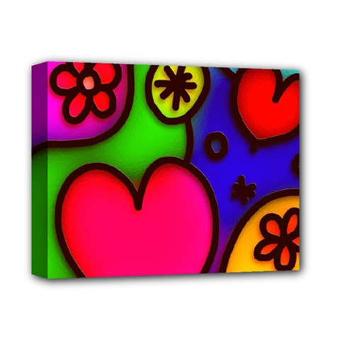 Colorful Modern Love 2 Deluxe Canvas 14  x 11