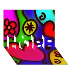 Colorful Modern Love 2 HOPE 3D Greeting Card (7x5)