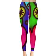 Colorful Modern Love 2 Women s Leggings