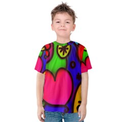 Colorful Modern Love 2 Kid s Cotton Tee