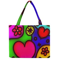 Colorful Modern Love 2 Tiny Tote Bags