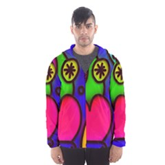 Colorful Modern Love 2 Hooded Wind Breaker (Men)