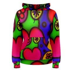 Colorful Modern Love 2 Women s Pullover Hoodies