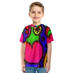 Colorful Modern Love 2 Kid s Sport Mesh Tees