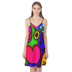Colorful Modern Love 2 Camis Nightgown