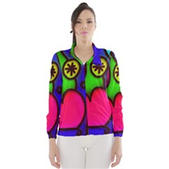 Colorful Modern Love 2 Wind Breaker (Women)