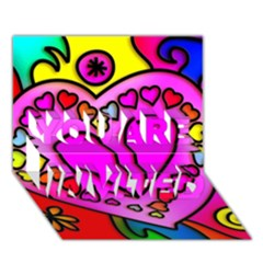 Colorful Modern Love You Are Invited 3d Greeting Card (7x5)