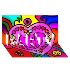 Colorful Modern Love Party 3d Greeting Card (8x4)