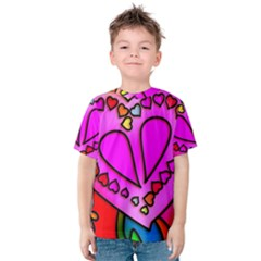 Colorful Modern Love Kid s Cotton Tee