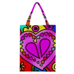 Colorful Modern Love Classic Tote Bags