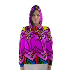 Colorful Modern Love Hooded Wind Breaker (Women)