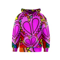 Colorful Modern Love Kids Zipper Hoodies