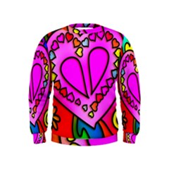 Colorful Modern Love Boys  Sweatshirts