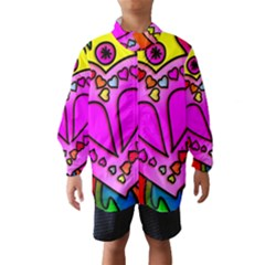 Colorful Modern Love Wind Breaker (Kids)