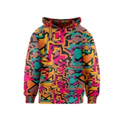 Colorful shapes Kid s Pullover Hoodie