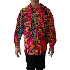 Colorful Shapes Hooded Wind Breaker (kids)