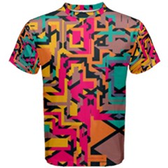 Colorful Shapes Men s Cotton Tee