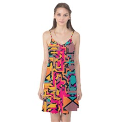 Colorful Shapes Camis Nightgown