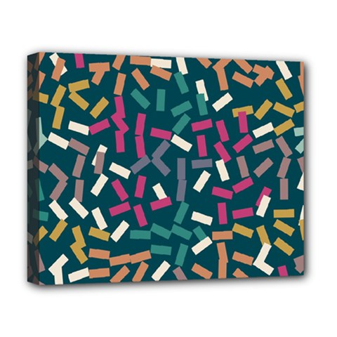 Floating rectangles Deluxe Canvas 20  x 16  (Stretched)
