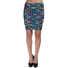 Floating Rectangles Bodycon Skirt