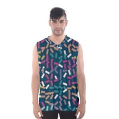 Floating Rectangles Men s Basketball Tank Top