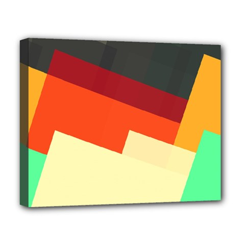 Miscellaneous retro shapes Deluxe Canvas 20  x 16  (Stretched)