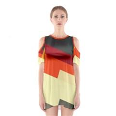 Miscellaneous retro shapes Women s Cutout Shoulder Dress
