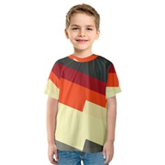 Miscellaneous retro shapes Kid s Sport Mesh Tee
