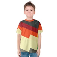 Miscellaneous Retro Shapes Kid s Cotton Tee