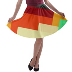 Miscellaneous retro shapes A-line Skater Skirt