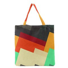 Miscellaneous retro shapes Grocery Tote Bag