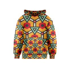 Triangles and hexagons pattern Kid s Pullover Hoodie