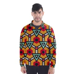 Triangles and hexagons pattern Wind Breaker (Men)