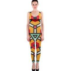 Triangles And Hexagons Pattern Onepiece Catsuit