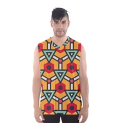 Triangles and hexagons pattern Men s Basketball Tank Top