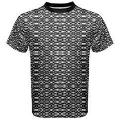 Black and White Geometric Tribal Pattern Men s Cotton Tees
