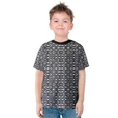 Black and White Geometric Tribal Pattern Kid s Cotton Tee