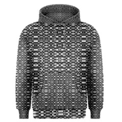 Black and White Geometric Tribal Pattern Men s Pullover Hoodies