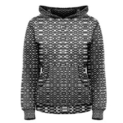 Black and White Geometric Tribal Pattern Women s Pullover Hoodies