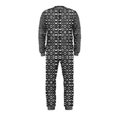 Black and White Geometric Tribal Pattern OnePiece Jumpsuit (Kids)