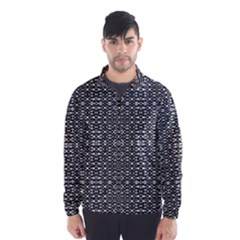 Black And White Geometric Tribal Pattern Wind Breaker (men)