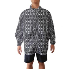 Black and White Geometric Tribal Pattern Wind Breaker (Kids)