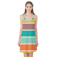 Rhombus And Retro Colors Stripes Pattern Camis Nightgown