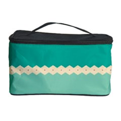 Rhombus and retro colors stripes pattern Cosmetic Storage Case