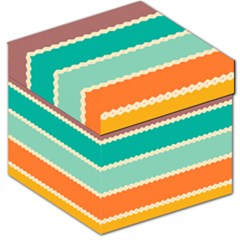 Rhombus and retro colors stripes pattern Storage Stool