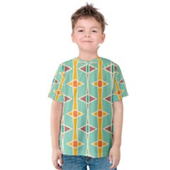 Rhombus pattern in retro colors  Kid s Cotton Tee