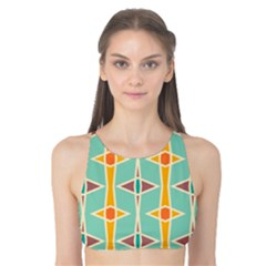 Rhombus pattern in retro colors  Tank Bikini Top