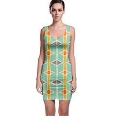 Rhombus pattern in retro colors  Bodycon Dress